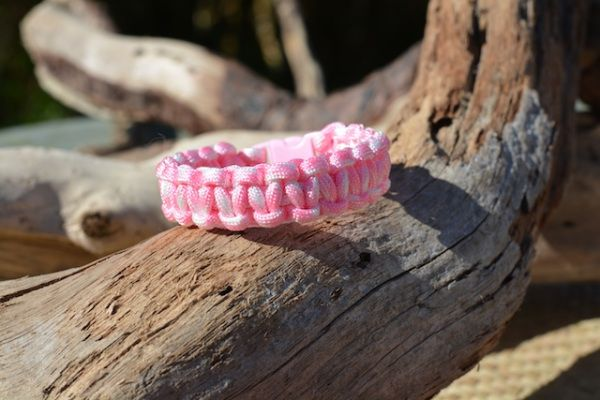 Rose Pink & White #paracord