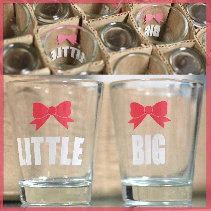 Big & Little shot glasses