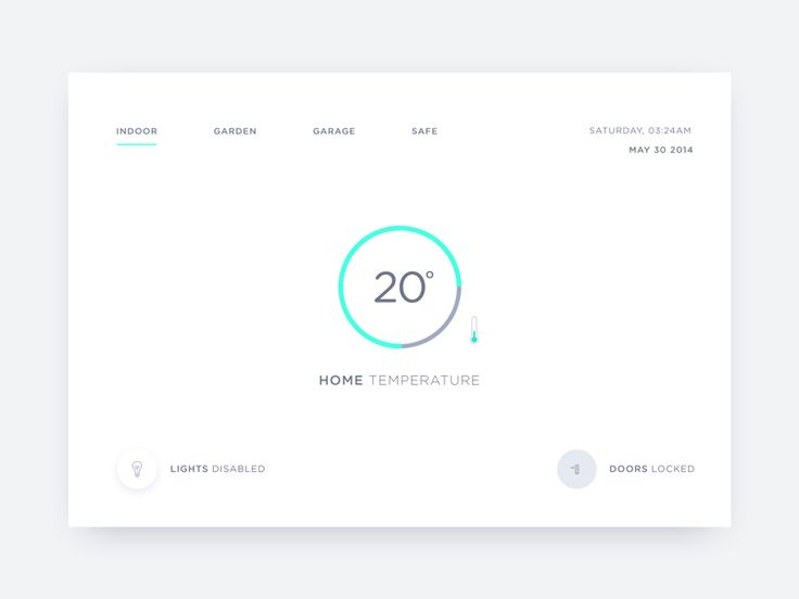 DailyUi - Day #21,  Hey guys, Today's challenge is to create a Home monitoring dashboard UI.  Check out the Hi-res version  Let me know your thoughts & Press L to show some love :)