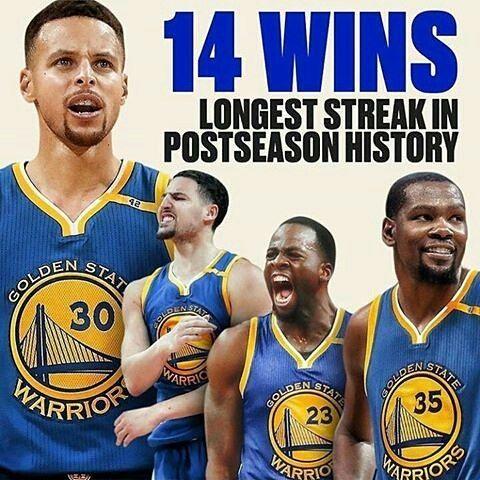 The Warriors just beat the cavs 118-113 soooo.......now it's 15 win streak!!!!!!