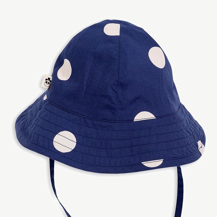 Mini Rodini Navy Dot Sun Hat