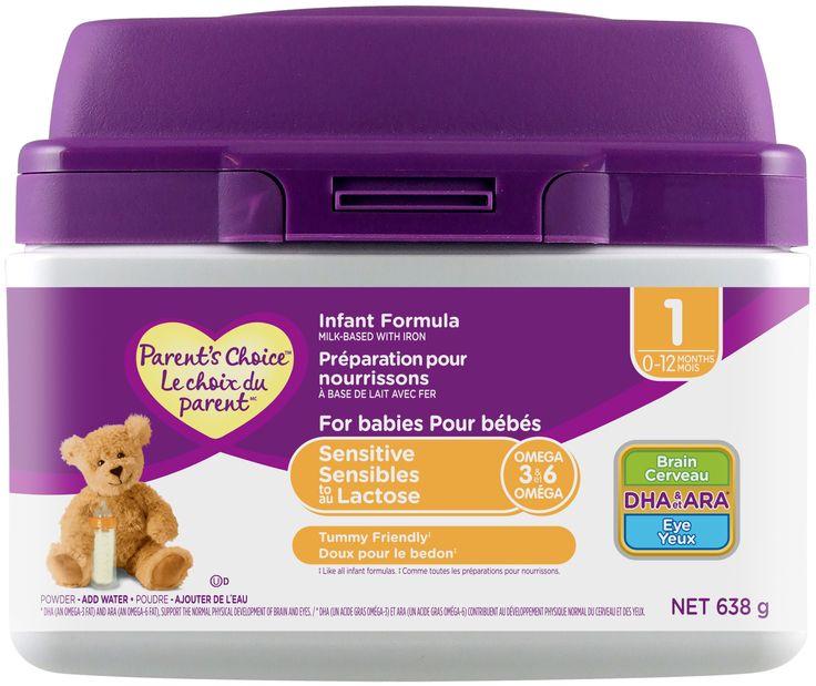WALMART CANADA / Parent's Choice Infant Formula (For babies sensitive to lactose)