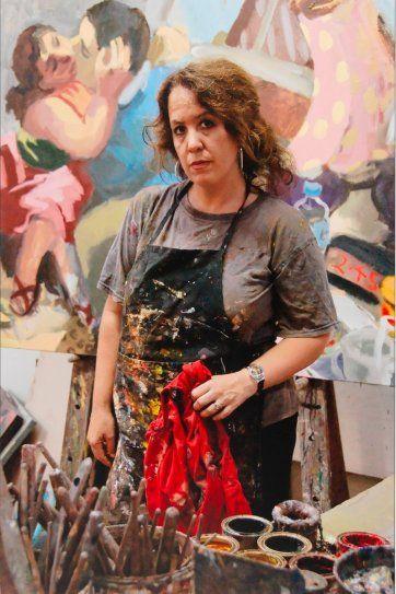 Wendy Sharpe in her studio, 2007 by Mark Tedeschi