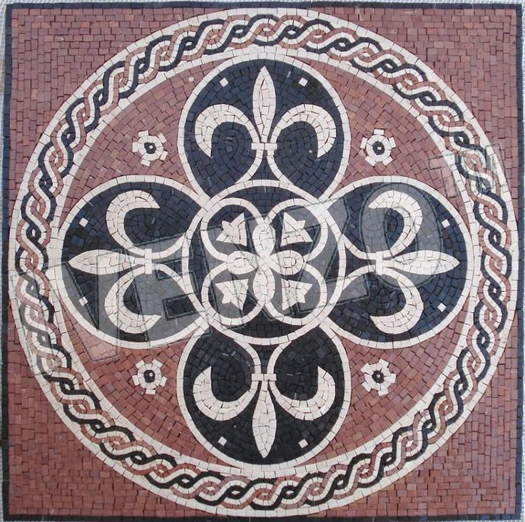 Mosaik GK067 Boubonische Lilie