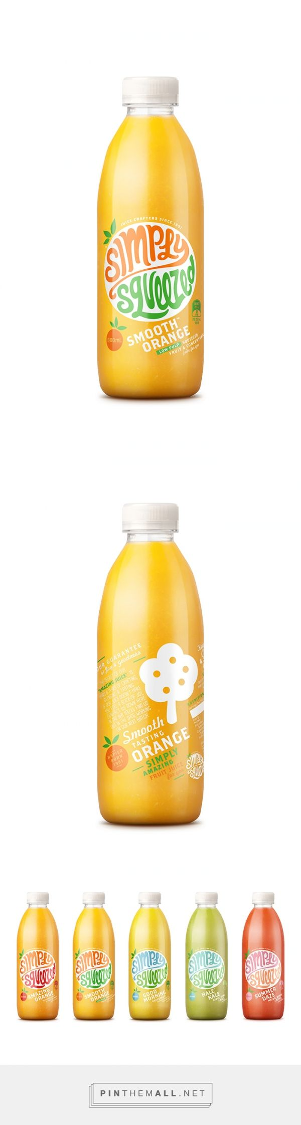 Simply Squeezed Juice Company designed by Dow Design. Pin curated by #SFields99 #packaging #design