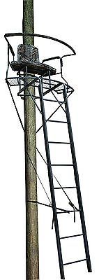 Tree Stands 52508: Hunting Ladder Stand Deer Two Man Blind Tree Black Steel Big Game Cushion Seats -> BUY IT NOW ONLY: $270.99 on eBay!