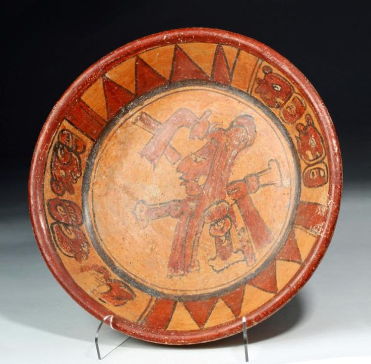 Buy online, view images and see past prices for Mayan Polychrome Tripod Plate, ex-Arte Primitivo. Invaluable is the world's largest marketplace for art, antiques, and collectibles.