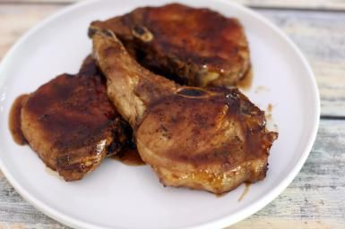 Tangy Maple and Creole Mustard Glazed Pork Chops: Maple Glazed Pork Chops