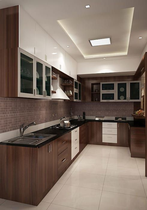 Perfect black kitchen cabinets and dark floors only in shopy home design