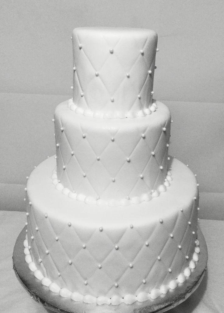 Quilted Fondant Wedding Cake North Richland Hills