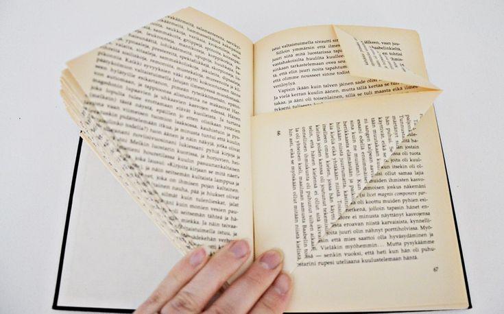 Elämää Eirassa: DIY: Taiteltu kirja