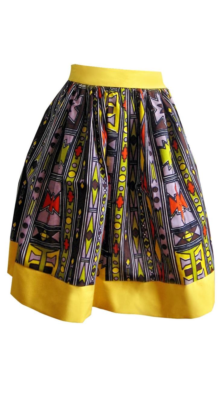 Tribal African Batik Print Skirt- I would so rock this skirt