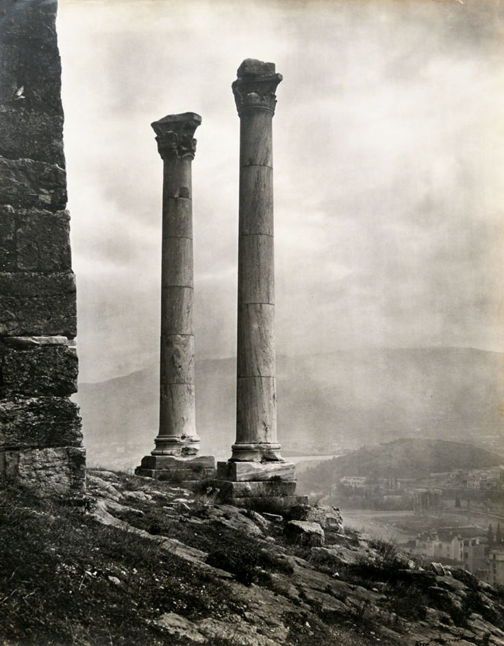 by Fred Boissonnas, 'Οn the Sacred Rock of the Acropolis', Athens,1903.