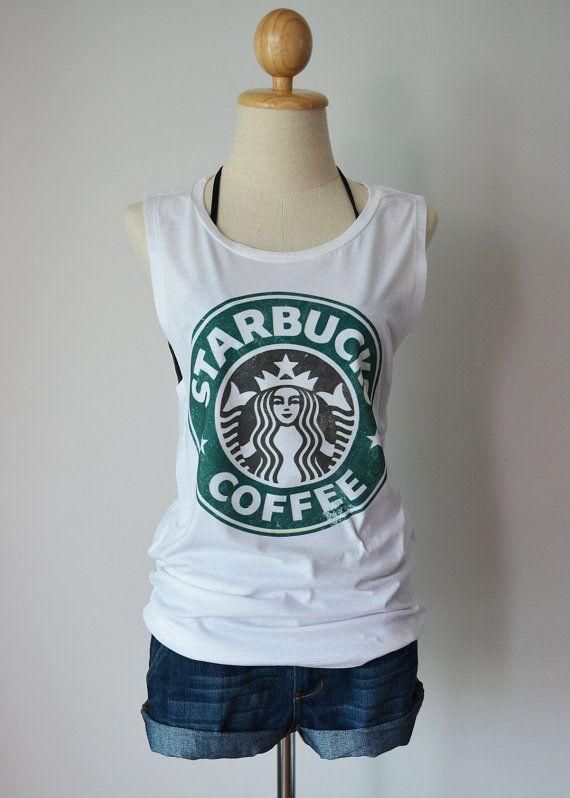 Starbucks Coffee classic vintage logo - women's singlet Tank Top shirt - XS - S - M - L on Etsy, $14.99