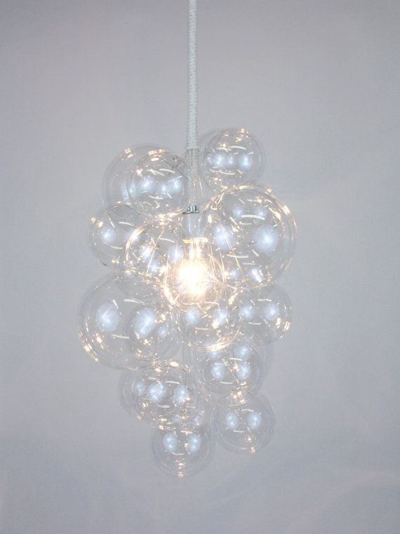 The Waterfall Bubble Chandelier 20 tall by TheLightFactory on Etsy