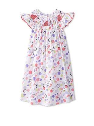 67% OFF Marjorie's Daughter Baby Pastel Dot Print Dress (White Multi)