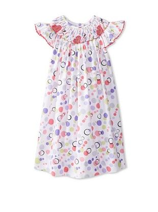 67% OFF Marjorie's Daughter Baby Pastel Dot Print Dress (White Multi)