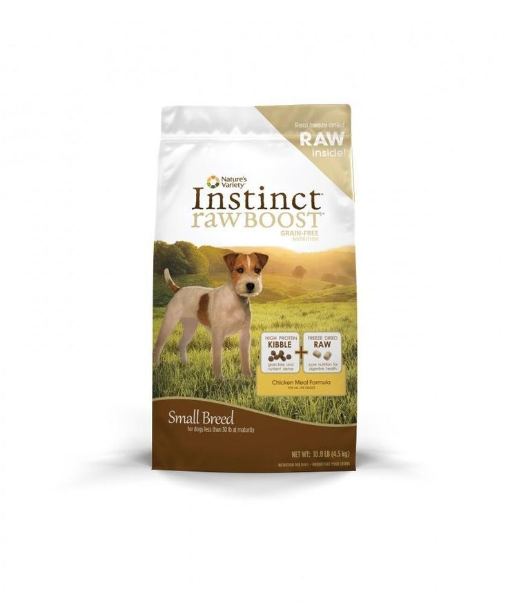Nature's Variety Instinct Raw Boost Small Breed Grain-Free Chicken Meal Dry Dog Food