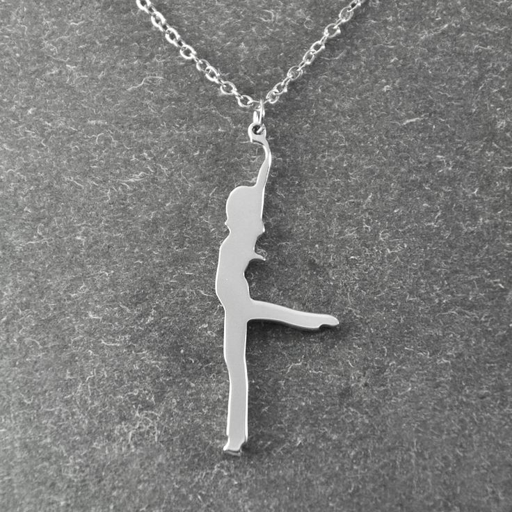 Dancing girl necklace , modern dance necklace , gift for dancer , Dancer Charm , Modern Dance , dance jewelry