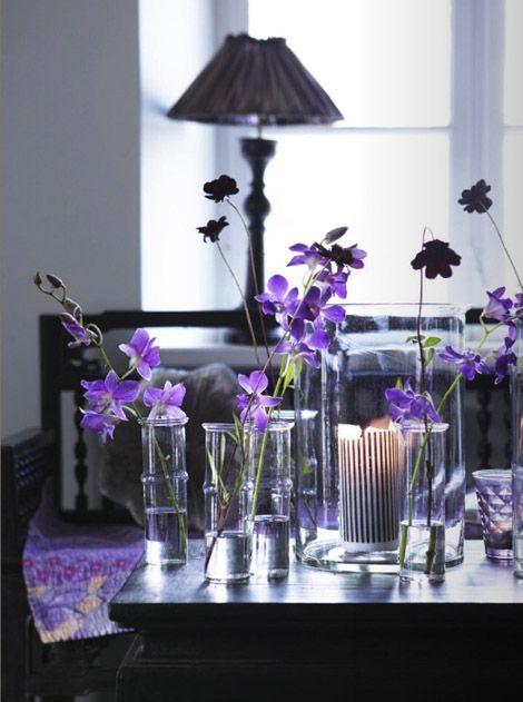 Purple Flowers Tabletop Decoration