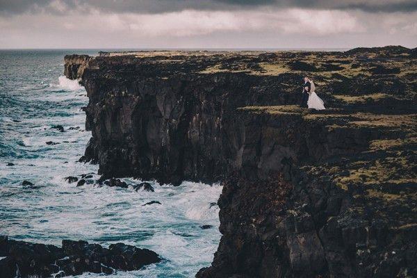 Intimate Iceland Wedding from David Latour Photographe
