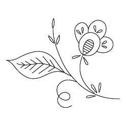 Pattern Detail | Stylized Flower C | Needlecrafter