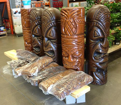 tiki-statues-home-depot - check local Home Depot! ... I've never seen these at my local Home Depot!! These are available on line at Homedepot.com