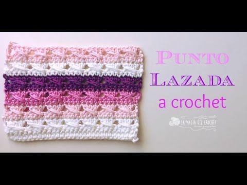 Tutorial: Cómo tejer punto lazada al crochet /CURSO CROCHET ONLINE GRATIS | Crochet y Dos agujas