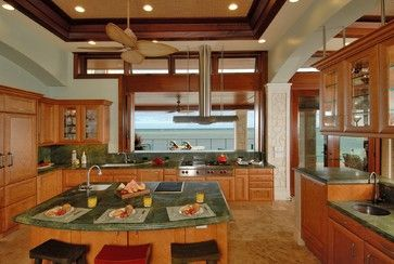 Designer Challenge Winner - Paiko Lagoon Oasis - tropical - kitchen - hawaii - Archipelago Hawaii, refined island designs