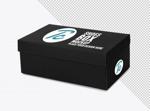 Download Black Shoe Box Mockup For Your Design In 2020 Box Mockup Minimalist Stationery Business Card Mock Up