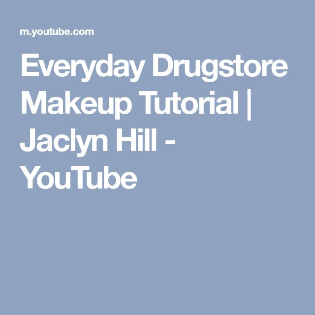 Everyday Drugstore Makeup Tutorial   Jaclyn Hill - YouTube