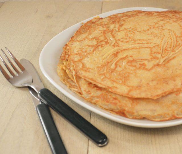 Zet straks de lekkerste zelfgemaakte pannenkoeken op tafel zet met zelfgemaakte pannenkoekenmix. Lekker!