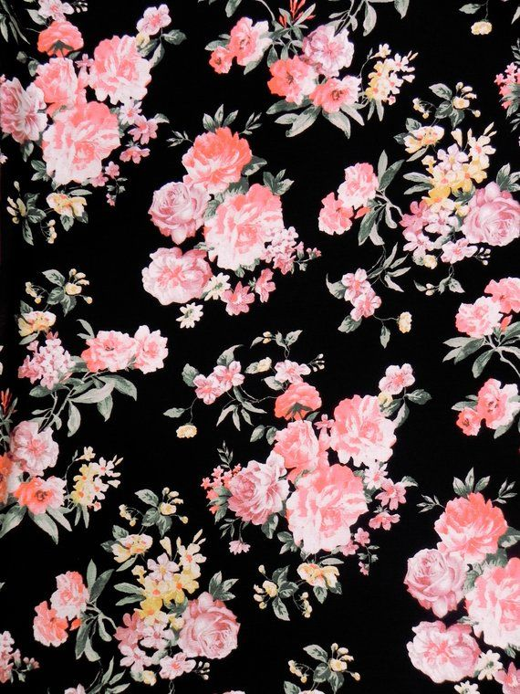 Floral Bouquet Designer Rayon Print Fabric By The Yard