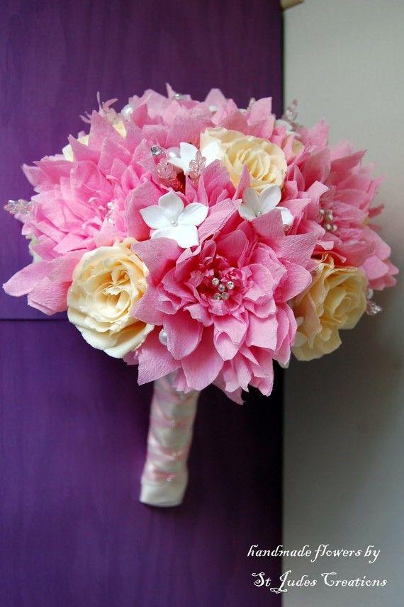 34 best Fabric Floral Bouquet Ideas images on Pinterest | Paper ...