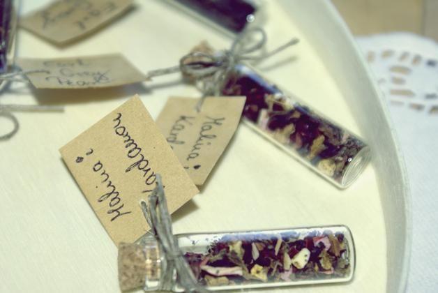 Podziękowania ślubne-herbatki w buteleczkach - Only-inherently - Prezenty dla gości