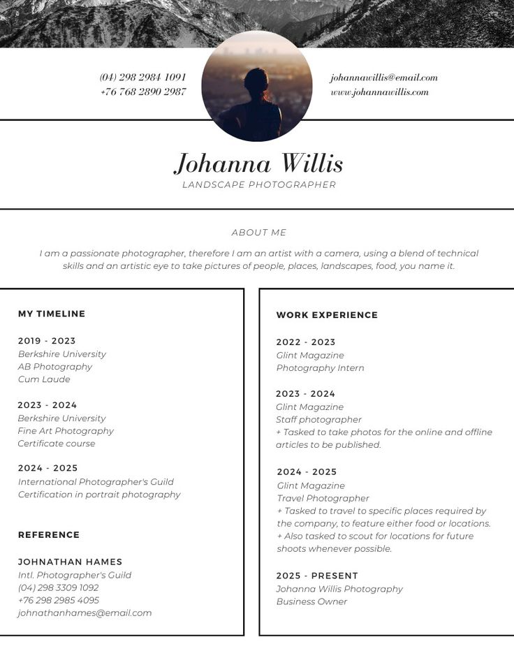 create your own personalized resume