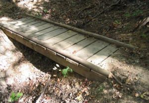 Beam Bridge over creek