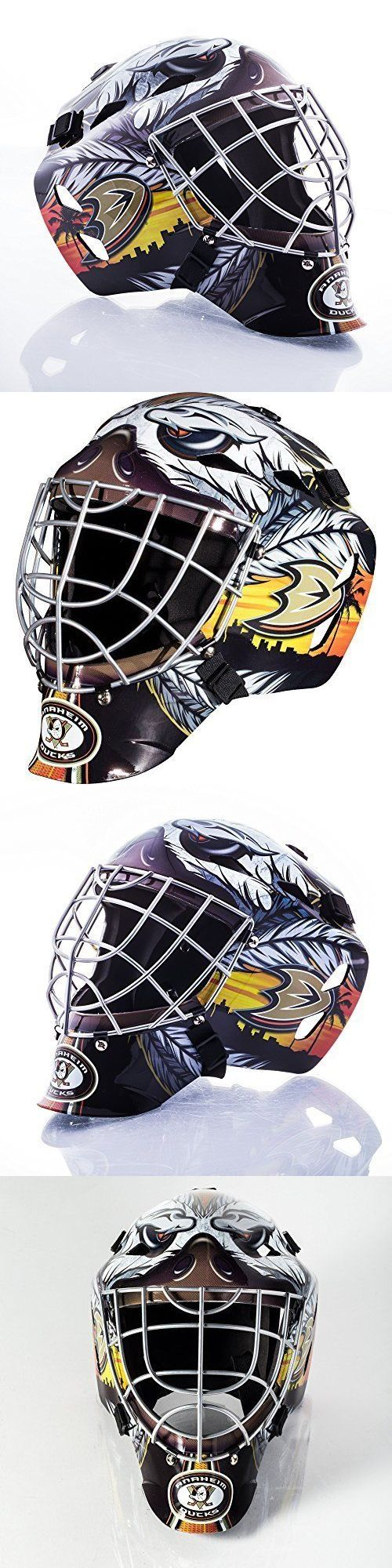 Novelties and Gifts 165937: Professional Collectiblenhl Anaheim Ducks Team Goalie Mask Street Hockey Helment BUY IT NOW ONLY: $66.59