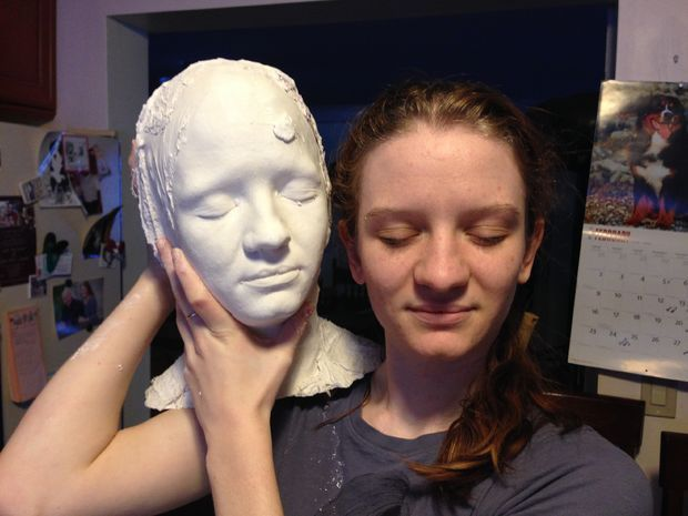 How to Make a mold of a face. I don't think I'd bother doing the back but I like this way