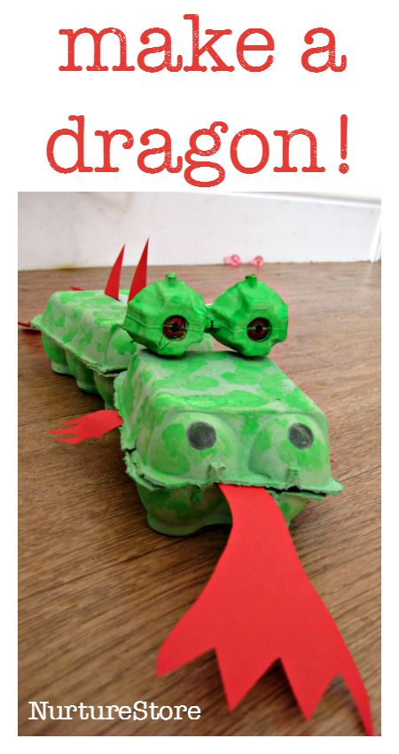 egg box dragon craft - great for chinese new year, great junk model craft