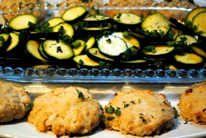Baked Tilapia Cakes with Zucchini Chips