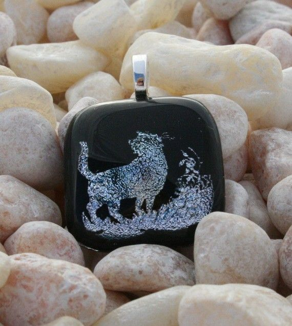 Fused Glass Pet Remembrance Cremains Jewelry made to order In remembrance of your cat Fused by addicted2glassfusion, $50.00