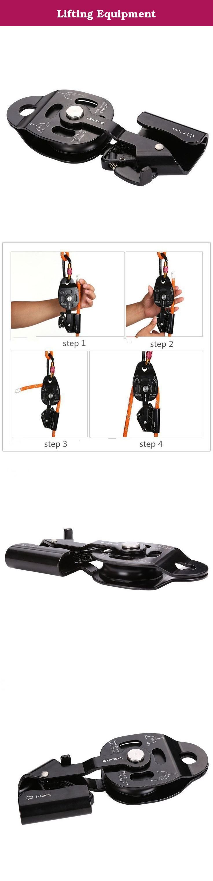 Lifting Equipment. Product Description s_customized:YesModel Number:910096Suit for :Rock, Ice Climbing, Rescue, Caving etc.Weight:390gTension:static tension: 25KN; rolling tension: 12.5KNItem Name:Pulley AscenderCertify:CE 1019 EN 12278Material:aluminium-magnesium alloy 1. Item: Pull up device 2. Material: aluminium-magnesium alloy 3. Size: 7.5cm(L) X 18cm(W) 4. Tension: static tension: 25KN; rolling tension: 12.5KN; drag tension: 8KN; 5. Color: black 6. Weight: about 390g 7. Used for…