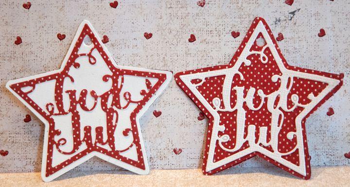 Nye juledies fra Papirdesign. Her brukt som pakkelapper.