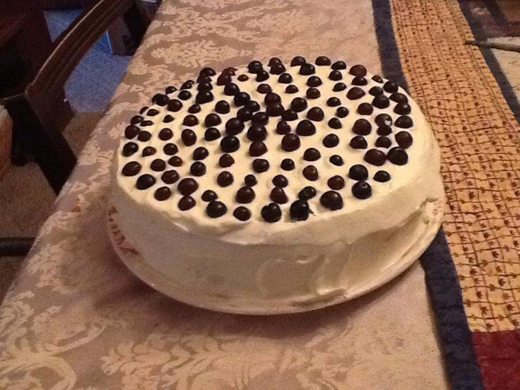 Huckleberry Chiffon Cake