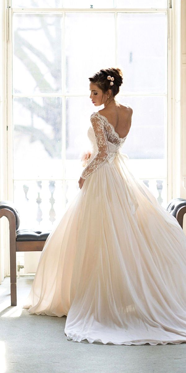 Look at the different kinds of ball gown wedding dresses.You'll find bridal dresses made from different fabrics, necklines and with variety