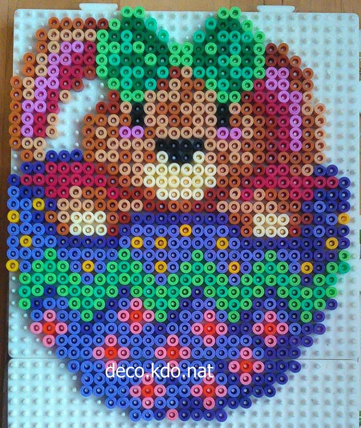 Bunny Easter egg hama beads by deco.kdo.nat