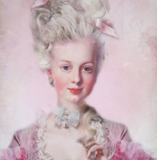 Portrait of Marie Antoinette.  I think this is one of the most flattering of her.
