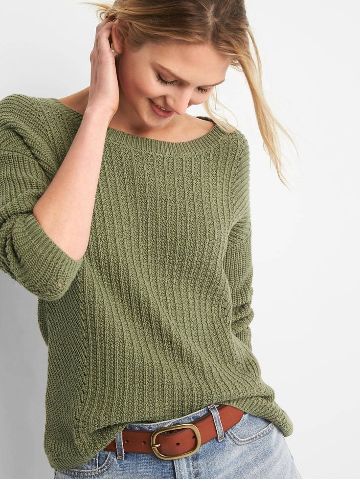 Pointelle Boatneck Sweater from the Gap {this is an affiliate link}