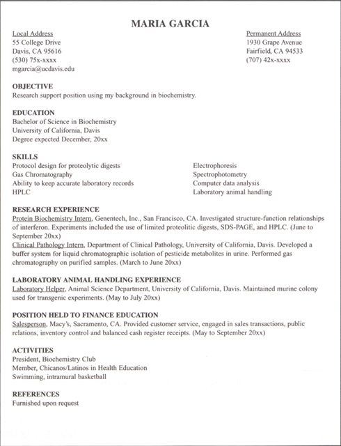 internship resume example google search career tings